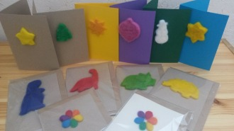 A selection of needlefelt cards