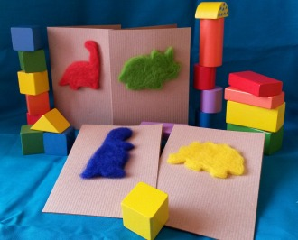 Needle felt dinosaurs